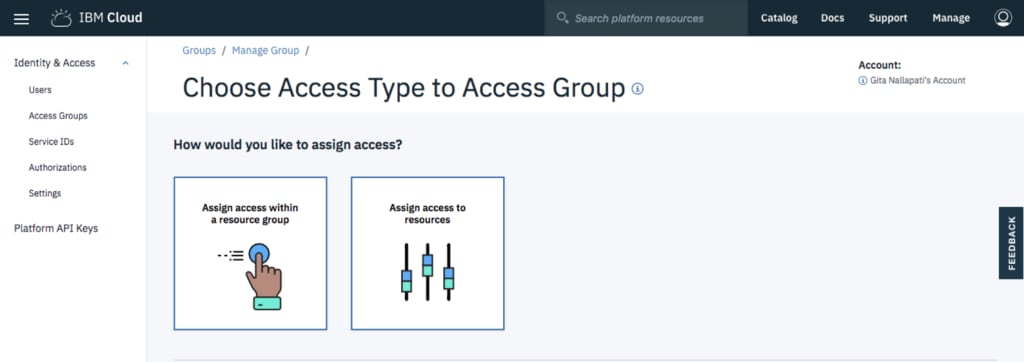 choose the type of access
