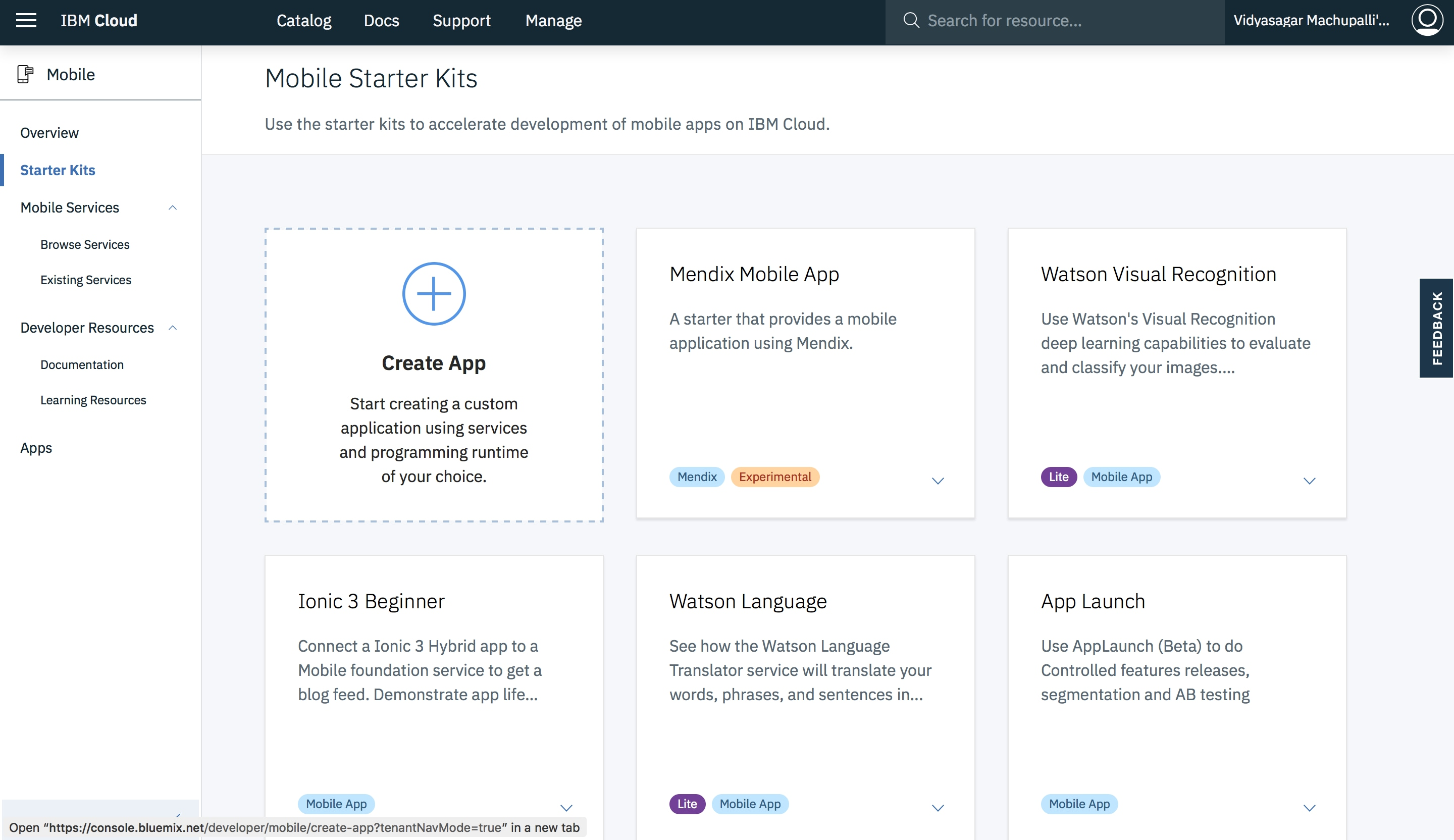 Quickly scaffold a native mobile app with Push and Analytics