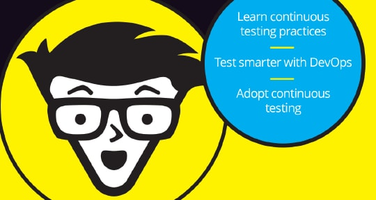 Graphic representing Continuous Testing For Dummies ebook
