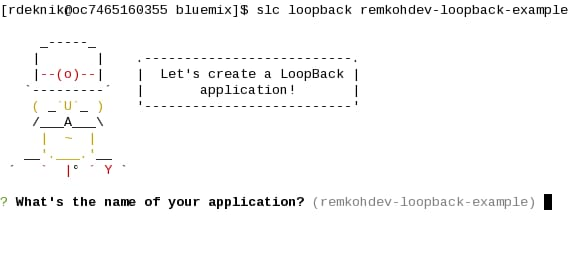 Create a skeletal LoopBack application