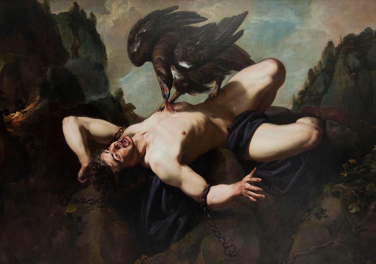 Prometheus and the eagle, by Theodoor Rombouts (1597-1637).