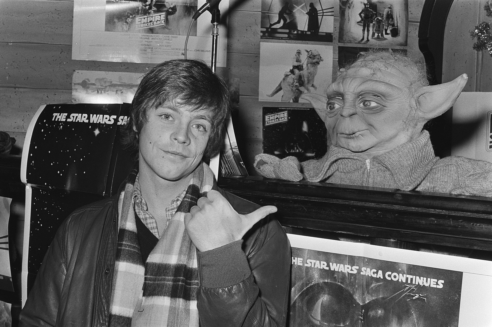 Mark Hamill, who plays Luke Skywalker, at a press conference in 1980. Photo courtesy of Dutch National archives.