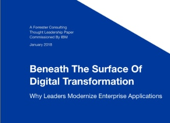cover of beneath the surface of digital transformation Forrester white paper