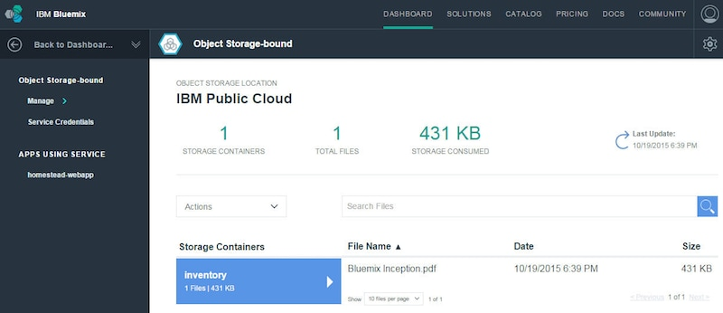 Closer look at the Object Storage service