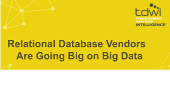 Graphic representing a webinar on how relational databases handle big data demands
