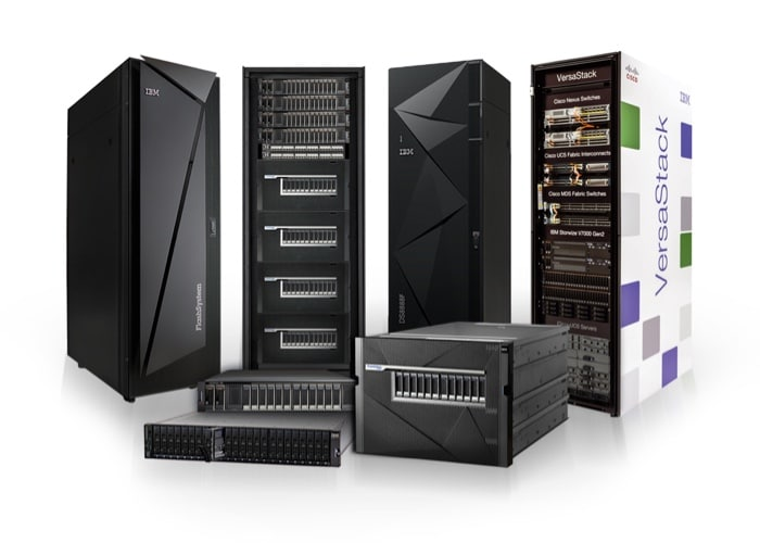 Compilation image of 7 leading edge Flash storage units