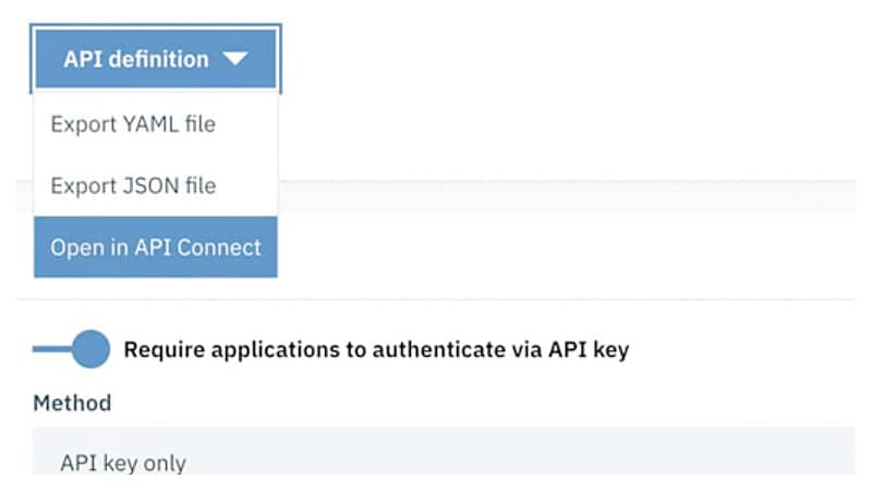 As soon as a flow is built, the API is ready for development team use and developer community socialization