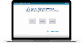 Screen shot from IBM Analytics for Apache Spark