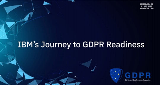 IBM journey to GDPR ebook image