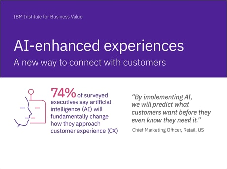 AI-enhanced experiences (infographic): A new way to connect with customers