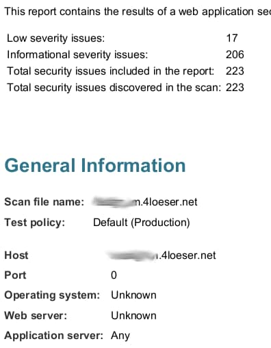 Security Scan Results