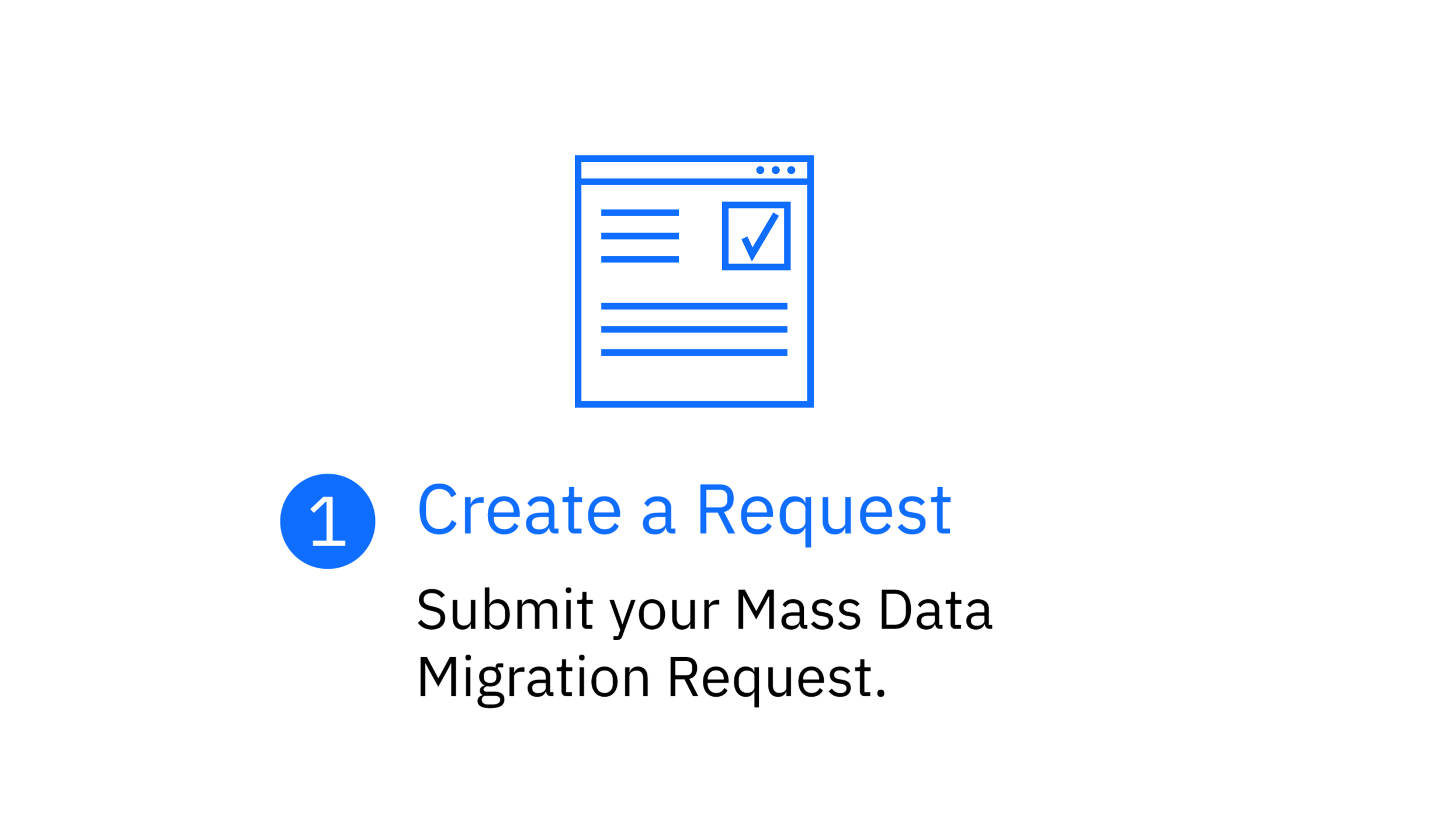 Step 1: Create a request