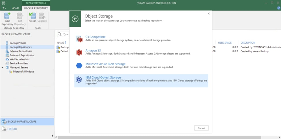 How To Use IBM Cloud Object Storage with Veeam-6