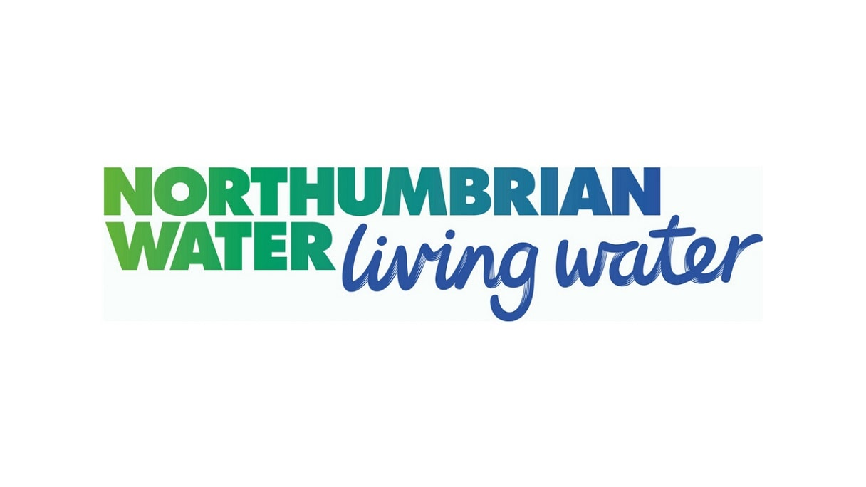 "Northumbrian Water logo followed by the motto ""living water"""