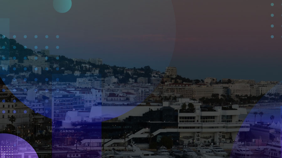 image of cannes with abstract circles overlaid on top