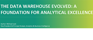 Thumbnail image representing the Aberdeen report on the evolution of data warehouses for analytics solutions