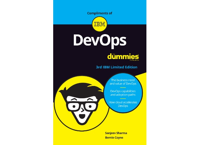 book cover for DevOps for Dummies