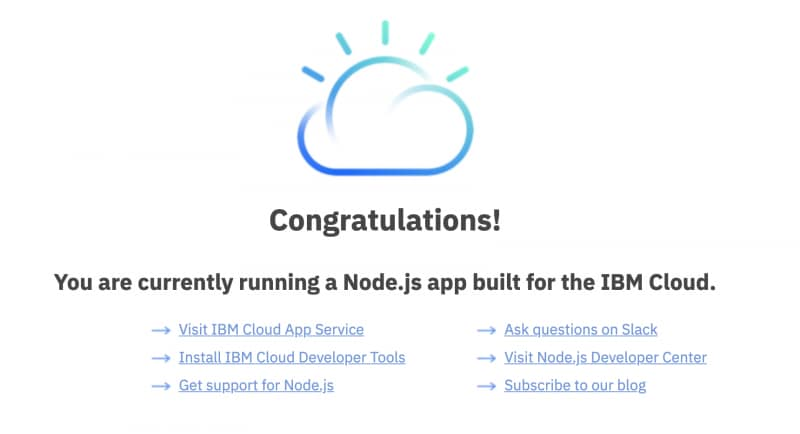 Building an app on IBM Cloud