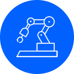 robotic arm pictogram