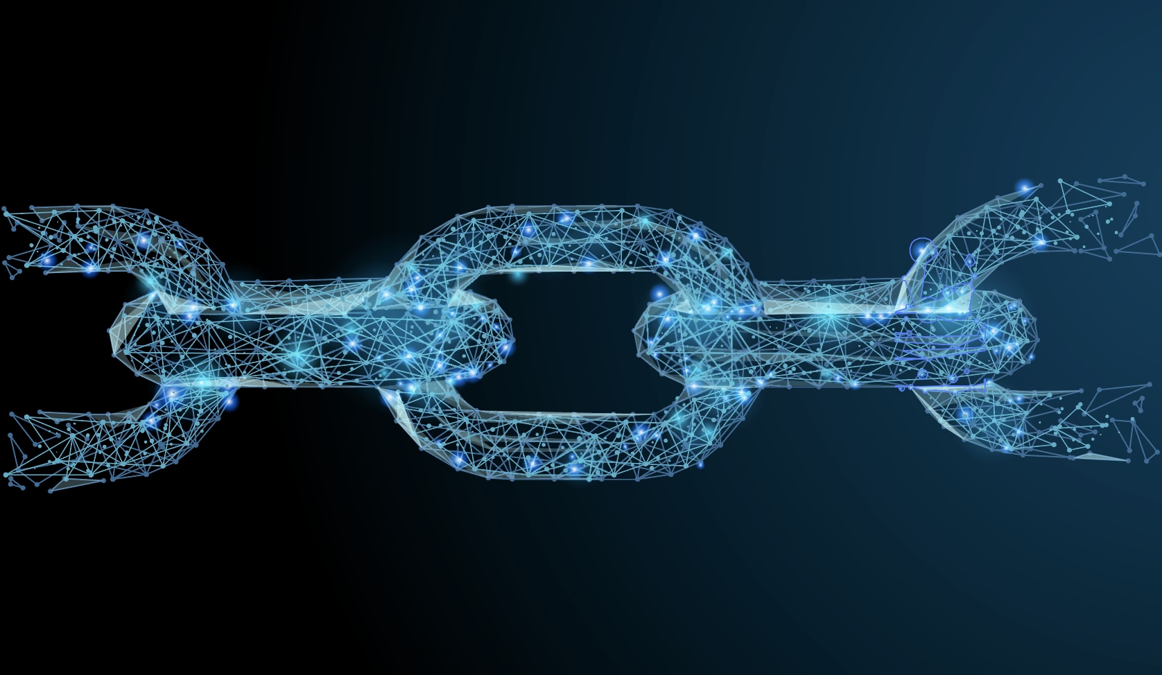 Stylized image of connected chain links