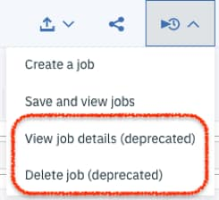 Click on the View job details (deprecated) option.