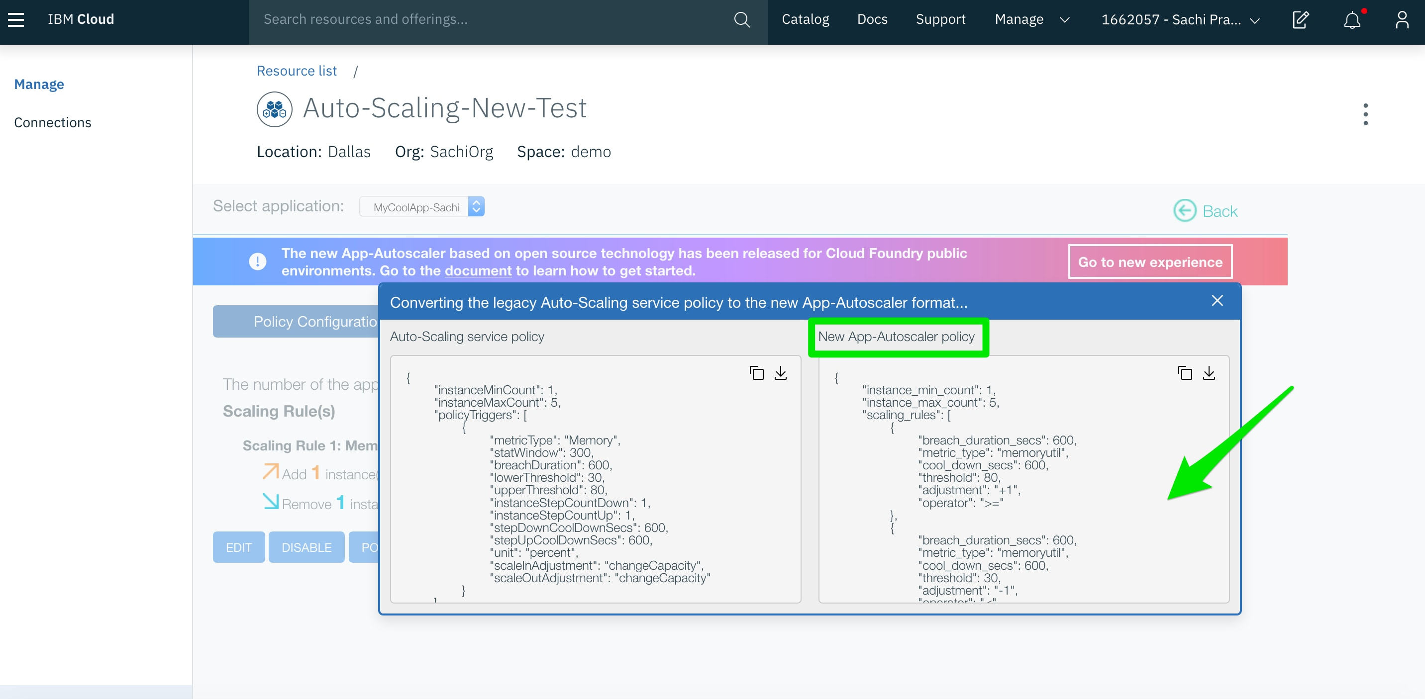How to Migrate Auto-Scaling Policies for Cloud Foundry Apps | IBM
