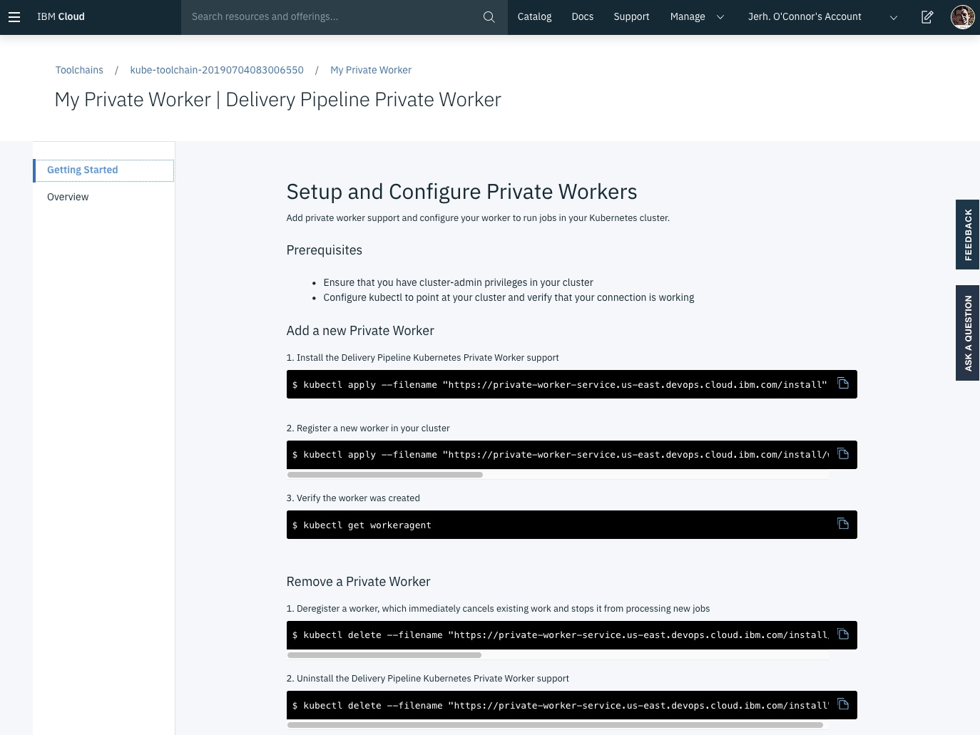 Setup and Configure Private Workers