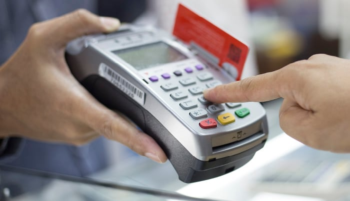 credit card POS device