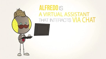 ALFREDO IS A VIRTUAL ASSISTANT THAT INTERACTS VIA CHAT