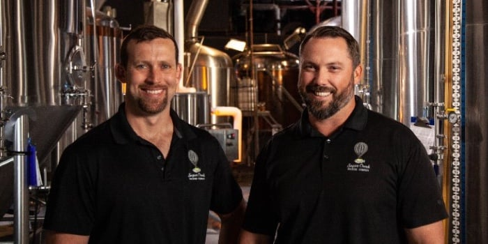 Two Sugar Creek Brewery employees