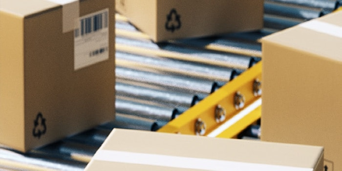 Package conveyor belt