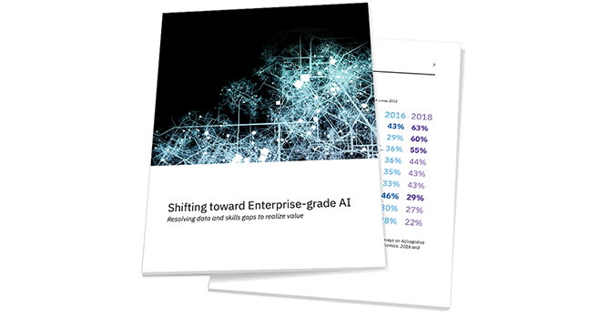 Promotional image for Shifting toward Enterprise-grade AI report