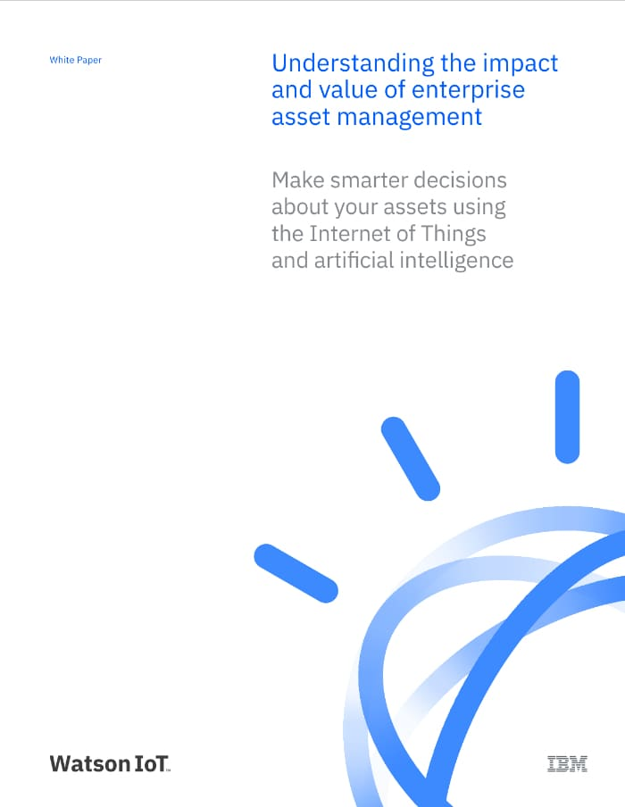 "Screenshot showing ""Understanding the impact and value of enterprise asset management"" white paper"