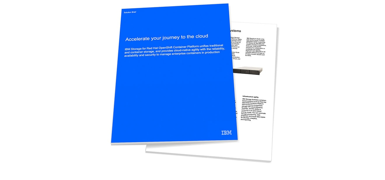 Blue and white IBM solution brief paper