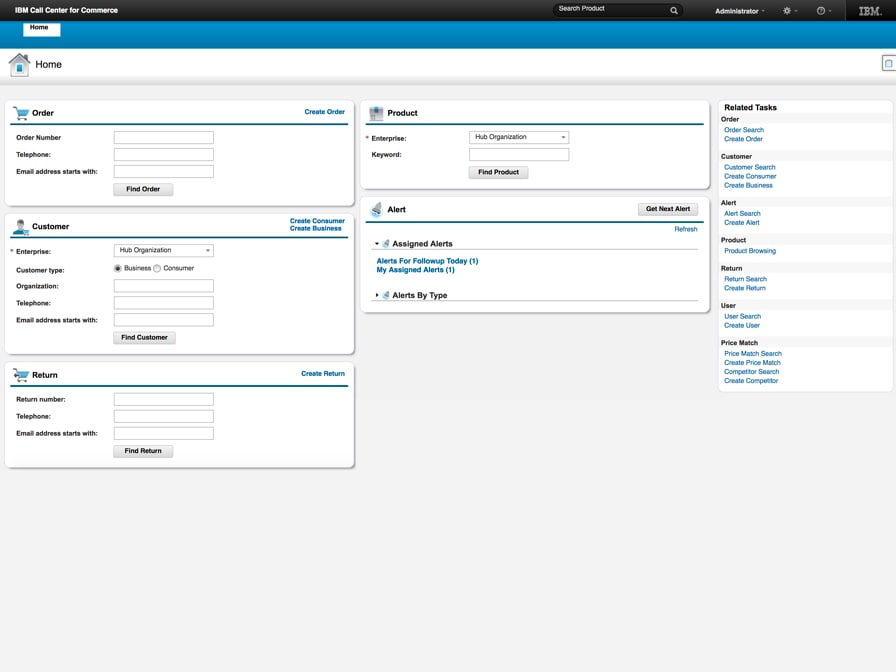 IBM Order Management - IBM call center product screenshot