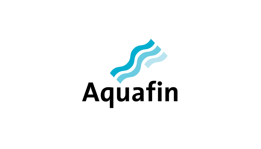 Aquafin logo and case study link about using Aspera Faspex to share packages among workgroups