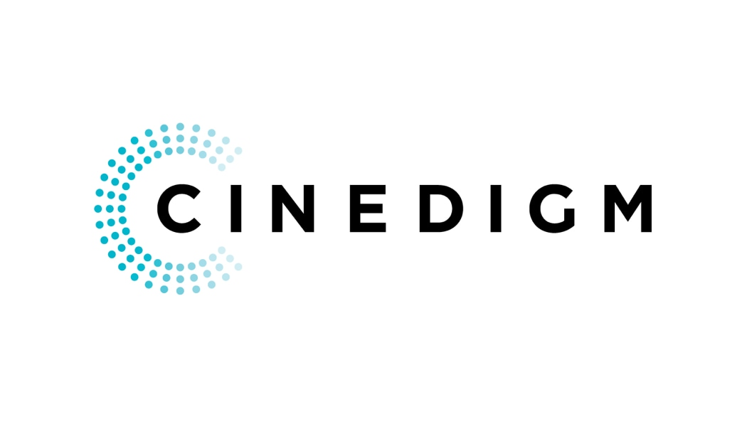 Cinedigm logo helps depict use of Aspera for data sync