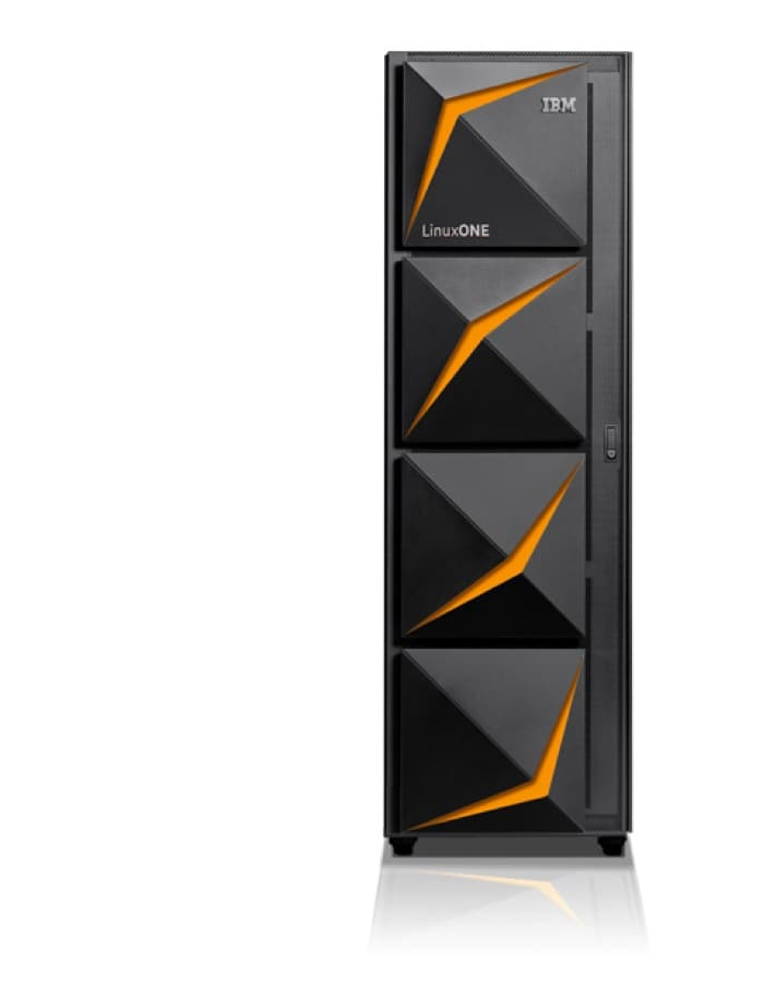 LinuxONE III secure cloud server