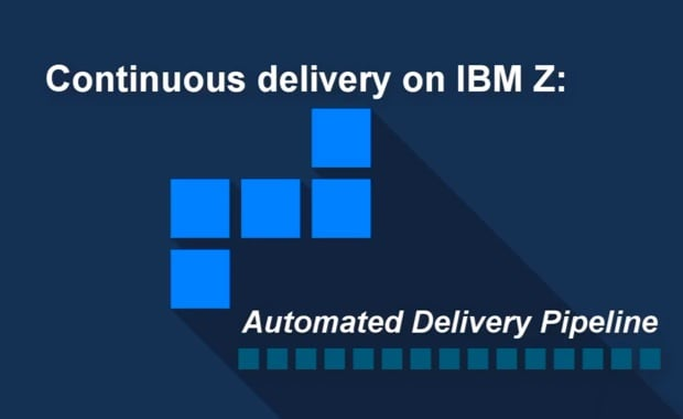 Graphic about continuous delivery of apps on IBM Z