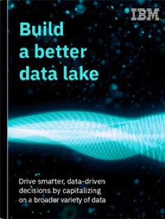 "Cover page of the ebook ""Build a better data lake"""