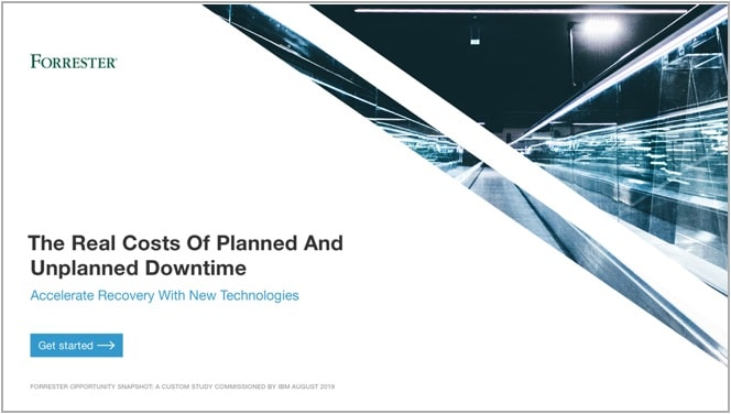Forrester analyst report on the costs of downtime.