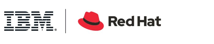 Logotipos IBM e Red Hat