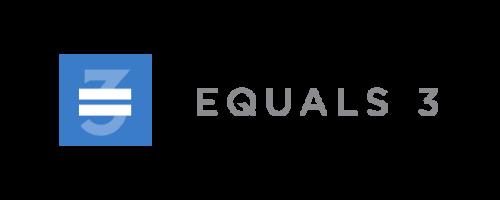 Equals 3