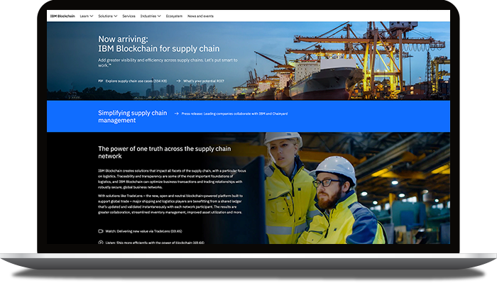 IBM Blockchain for Supply Chain