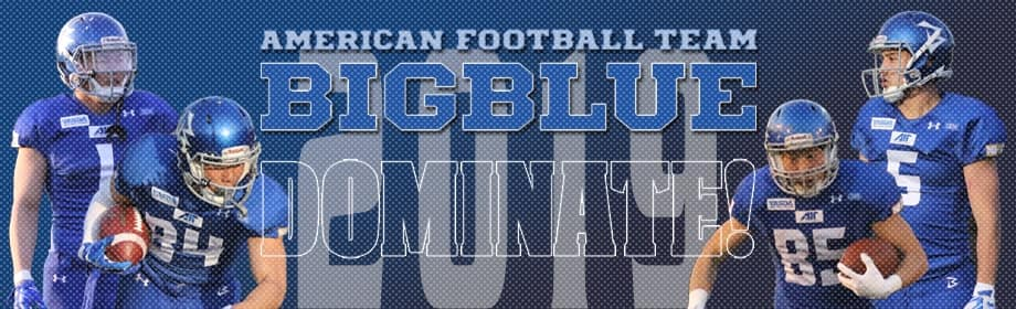American Football Team BigBlue Dominate!!