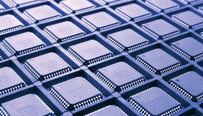 several computer processors forming a grid