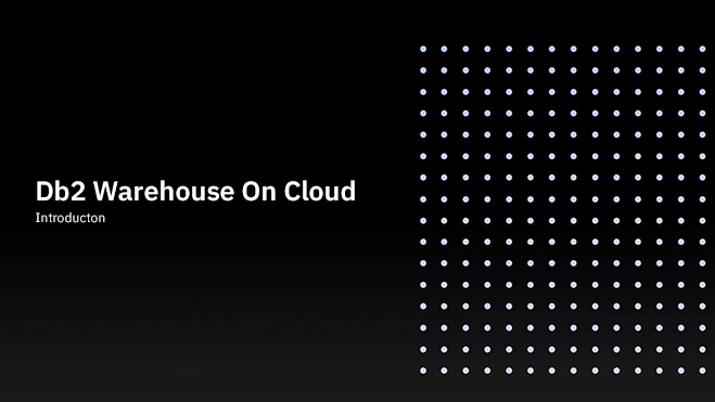 Imagem parada do vídeo introdutório do IBM Db2 Warehouse on Cloud​