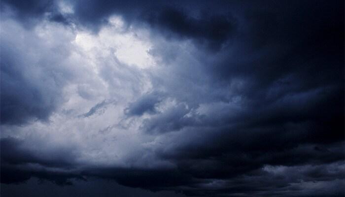 a clouded sky