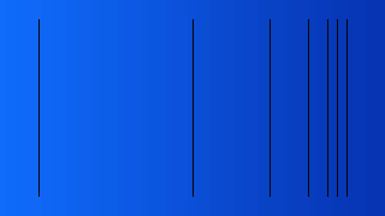 lines placed at various intervals on a blue background