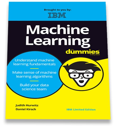 Cover of the machine learning for dummies ebook